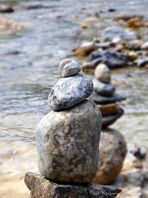 Stones, Balance, Zen, Meditation, Calm, River, Water
