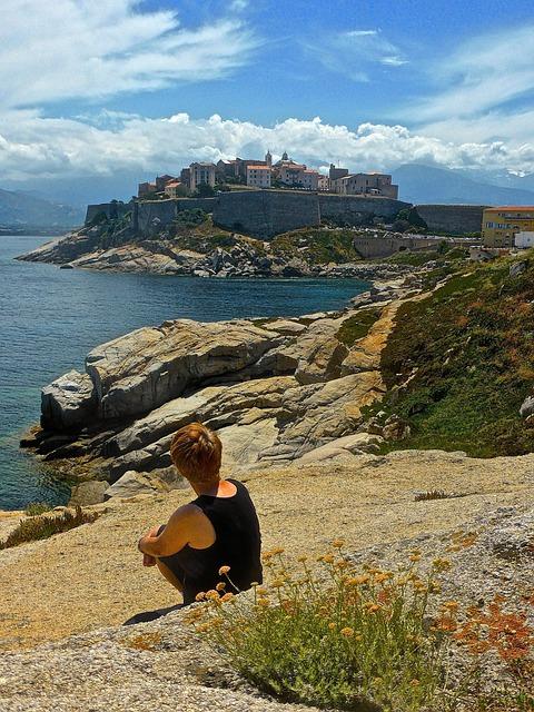 Calvi, Corsica, Rocky, Person, View, Landscape