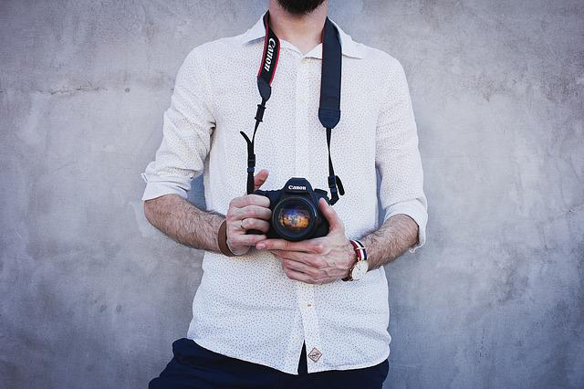 Camera, Canon, Fashion, Hairy, Hands, Long Sleeves, Man