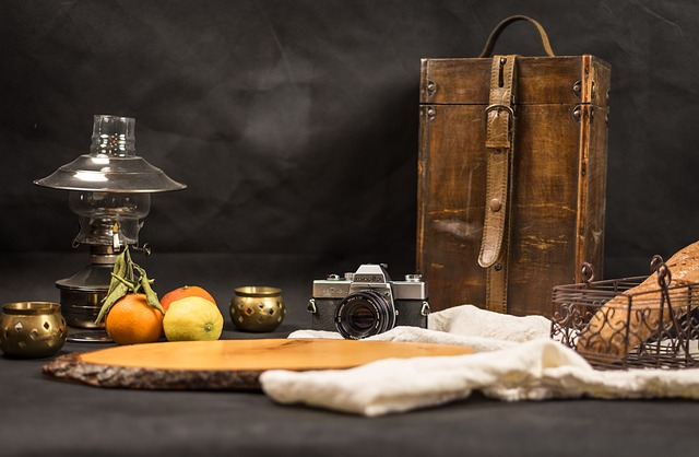 Old, Wood, Table, Camera