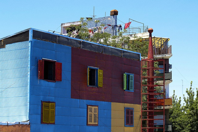 Colorful, Building, House, Caminito, Buenos Aires