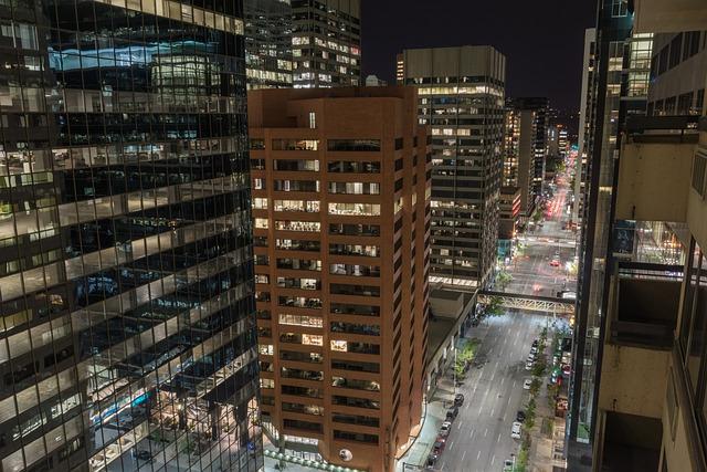 Calgary, Canada, Skyscraper, Downtown, Houses