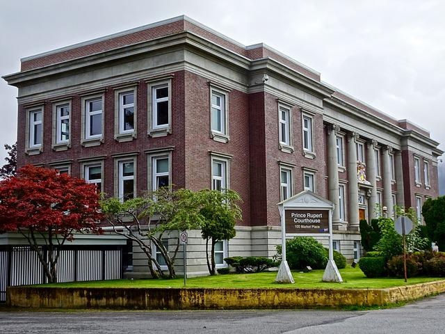 Building, Court House, Prince Rupert, Canada