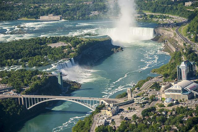 Niagara, Canada, Usa, Falls, Travel