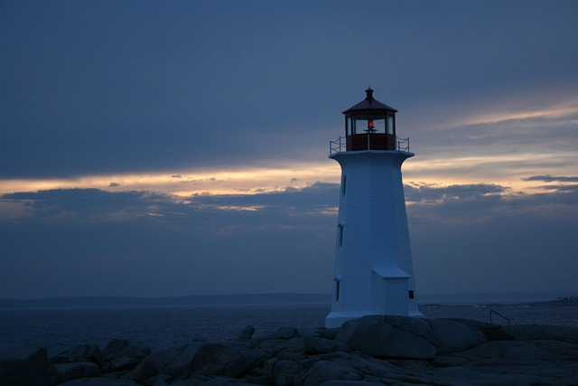 Nova Scotia, Peggy's Cove, Canada, Lighthouse, Ocean