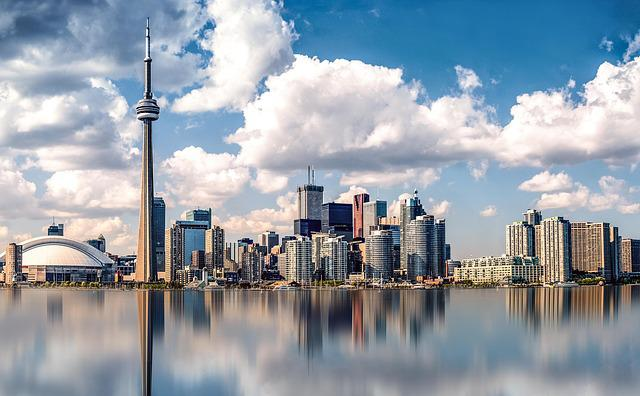 Canada, Toronto, City, Panorama, Sky, Waters