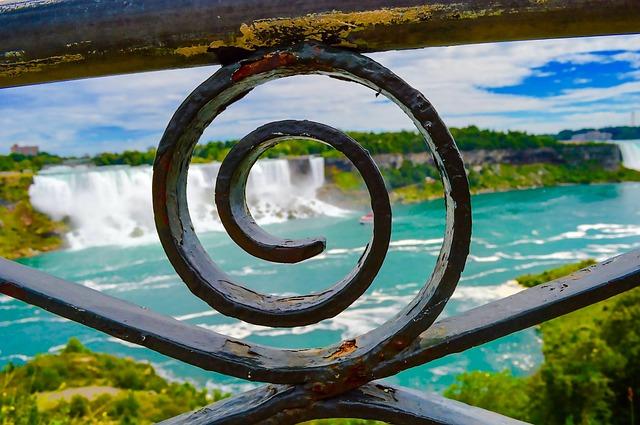 Niagara Falls, Fence, Can, Niagara, Water, Canada