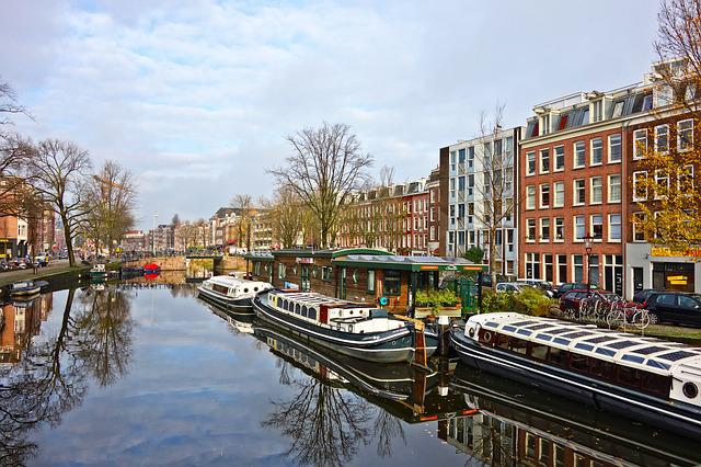 Canal, Boat, Architecture, Water, Reflection