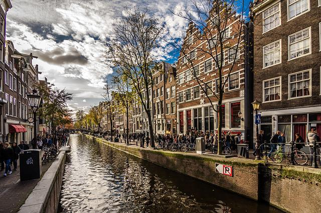 Street, Canal, City, Architecture, Town, Amsterdam