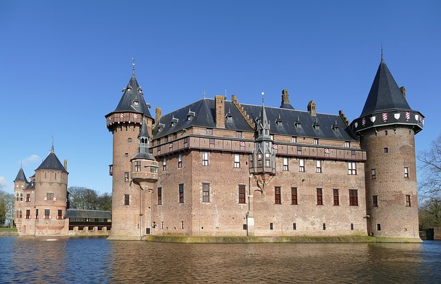Castle, Lock, Architecture, History, Water, Canal