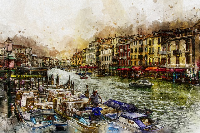 Venice, Grand, Canal, Venezia, Boats, Italian, Water