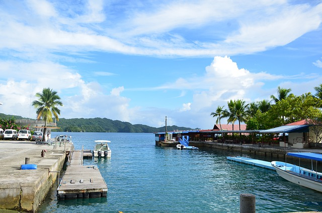 Canal, Waterway, Channel, Docks, Boating, Tropical
