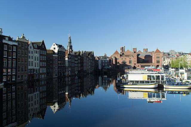 Amsterdam, Mirror Image, Projection, Canals