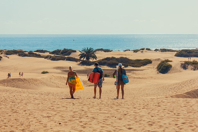 Gran Canaria, Canary Islands, Maspalomas, Bathing