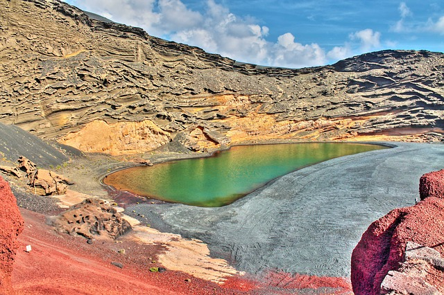 Green Lake, Lanzarote, Spain, Canary Islands