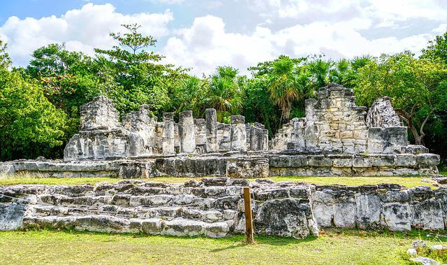El Ray, Cancun, Mexico, Archaeological, Nature, Ancient