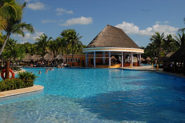 Cancun, Pool, Poolbar, Pool Area