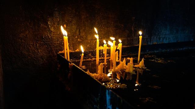 Candle, Wax, Lit, Prayer, Church, Sacrificial Lights