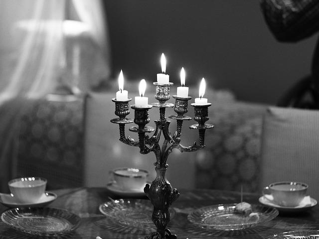 Candles, Bw, Candlestick, Burning Candles