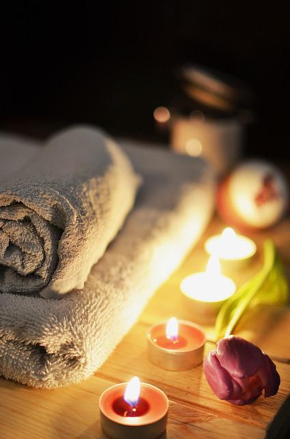 Massage Therapy, Candles, Towels, Relaxation, Treatment