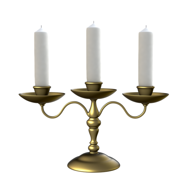 Candlestick For Three Candles, Transparent Background