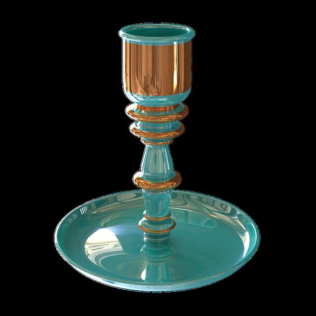 Candlestick, Porcelain