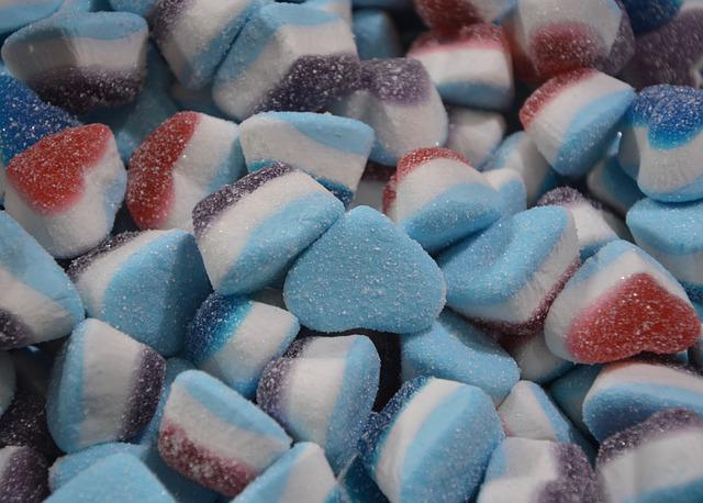 Candy Shape Heart, Candy, Confectionery, Gluttony