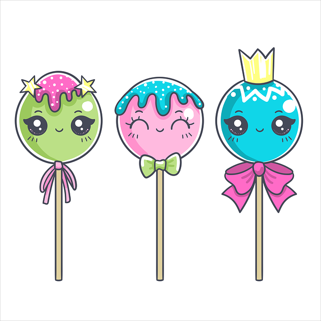 Lollipop, Candy, Sweets, Wink, Cute, Children's, Star