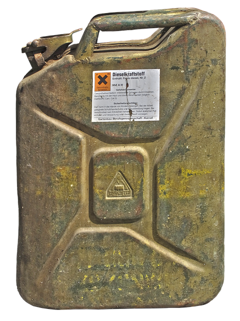 Canister, Gasoline Canister, Metal, Isolated, Fuel, Old
