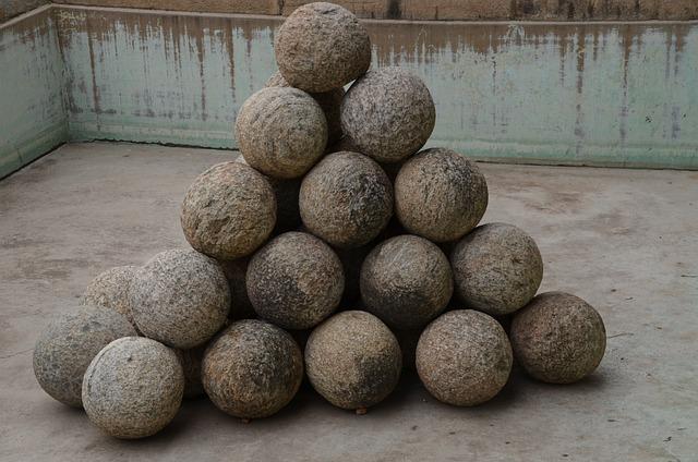 Cannon, Balls, Cannon Balls, Weapon, Artillery