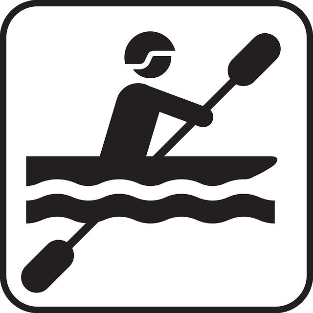 Canoeing, Paddling, Paddle, Canoe, Water Sports, Symbol