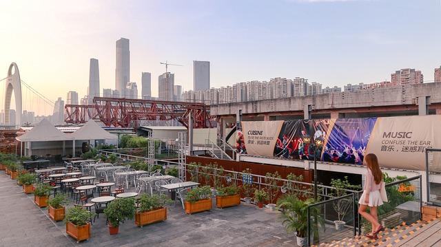 Canton, Pub, Sunset, Guangzhou
