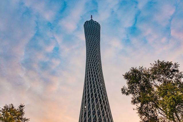 Canton, Canton Tower, Waistline, Sky, Tourism, Building