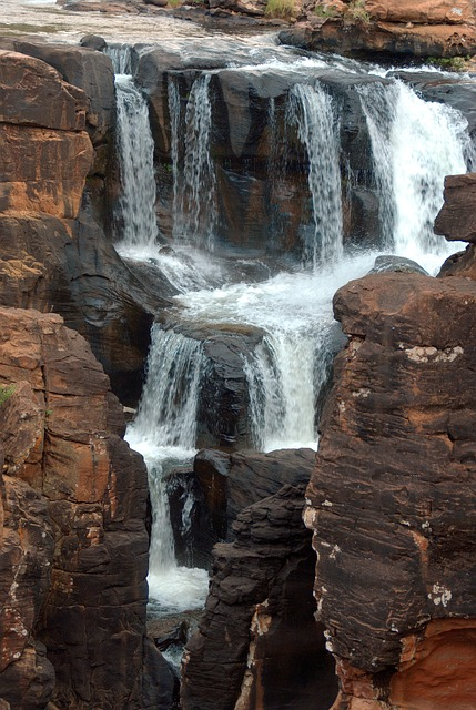 South Africa, Blyde River, Cascade, Canyon, Drakensberg
