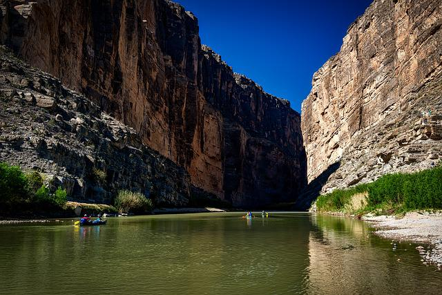 Rio Grande River, Texas, Mexico, Landscape, Canyon
