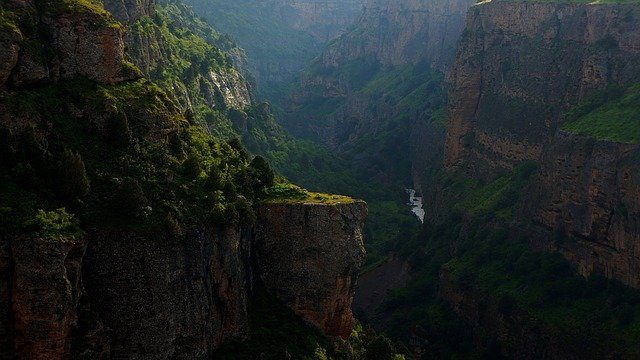 Canyon, Mountains, Deep, Gorge, Rocks, Landscape, Aksu