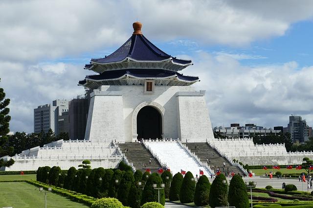 Taiwan, Asia, Taipei, Capital, Cenotaph, Temple, Park