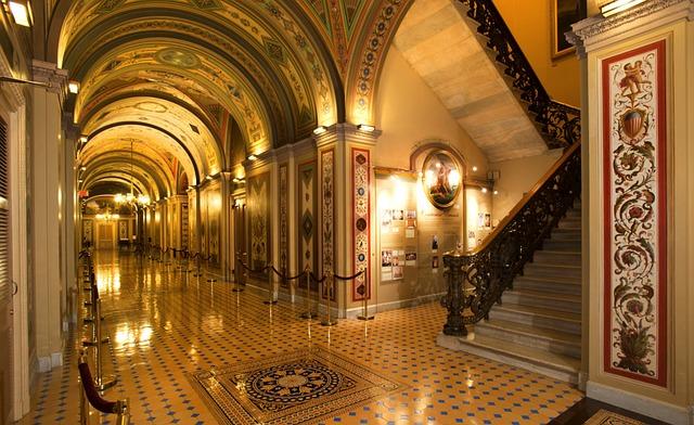 Washington Dc, Capitol Buildings, Inside, Interior