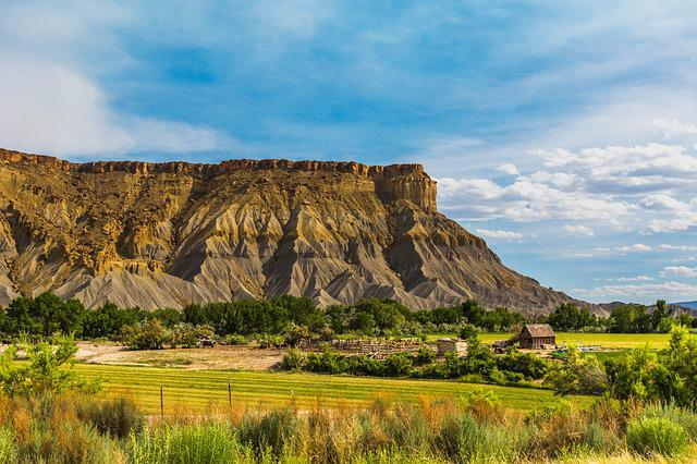 Utah, Farm, Capitol Reef, National Park, Rural, Sky