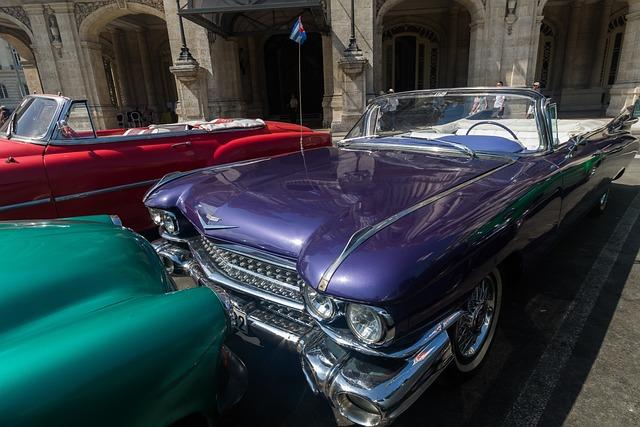 Cuba, Havana, Capitolio, Almendron, Car, Classic