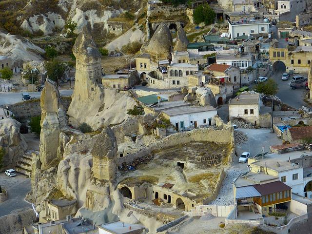 Göreme, City, Tufa, Rock, Rock Apartments, Cappadocia