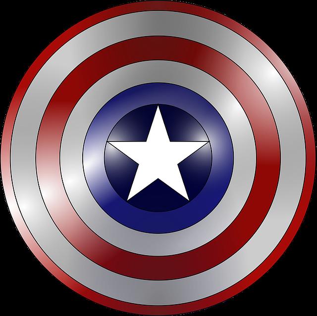 Captain America, Comic Book, Concentric, Gradient