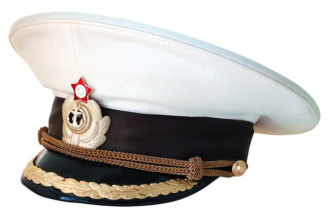 Peaked Cap, Captain, Navy, Russia, Cockade, Sea