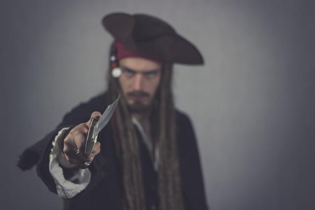 Pirate, Knife, Captain, Mutiny, Seafaring, Corsair