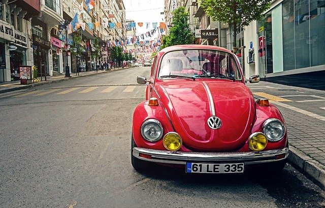 Automotive, Volkswagen Beetle, Car, City, Classic