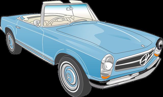 Mercedes, Car, Vehicle, Convertible, Line, Auto