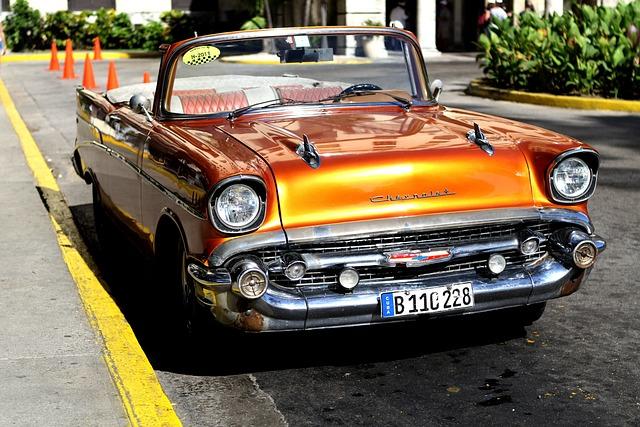 Cuba, Havana, Car, Old, Habana, Caribbean, City