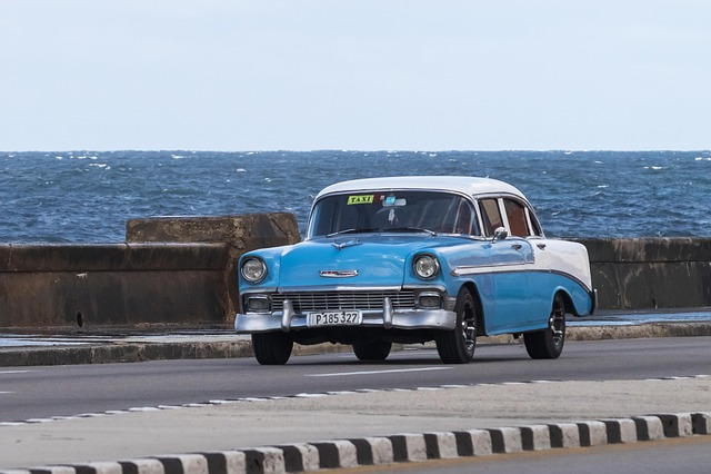 Cuba, Habana, Malecón, Car, Classic, Automobile, Chevy