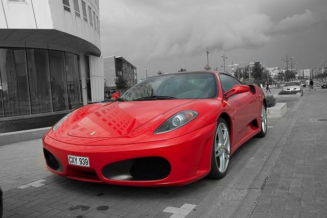 Ferrari, Car, Red