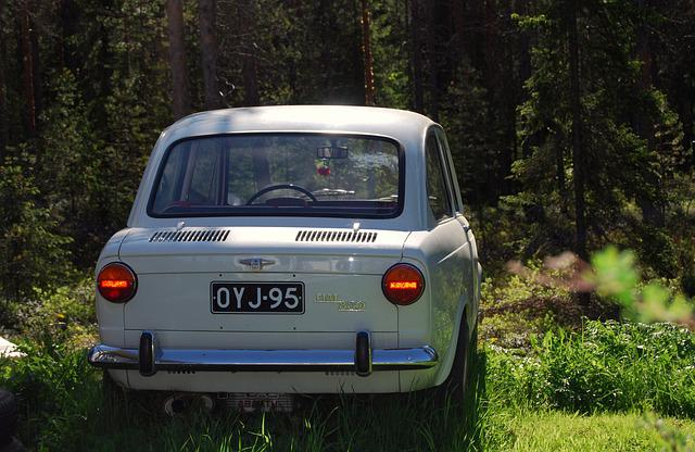 Fiat 850, Summer, Old, Resto, Model, Car